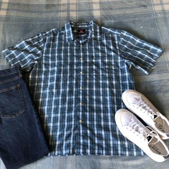 Quiksilver Other - Quicksilver Checked Short Sleeve Button Shirt EUC
